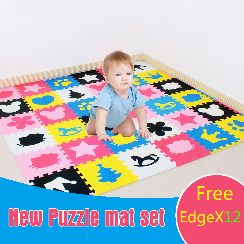 JCC Baby Foam Play Puzzle Floor Mat,18 or 36pcs Interlocking Exercise Gym Rug Carpet Protective Tile for kids(free edge)30x30cm cute letter eva foam baby toy puzzle play mat interlocking game exercise gym tile floor pad child kid 30x30x1 3cm 30pcs 22border