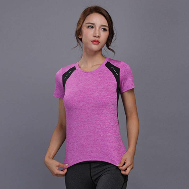 Dry Quick Gym Yoga T Shirt Tights Womens Sport Tees for Running Gym Fitness Short Sleeve Reflective Clothes Tops for Woman
