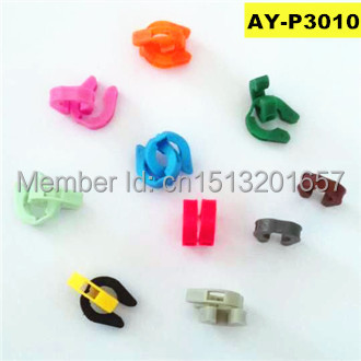 Free shipping!1000pieces fuel injector repair kit plastic spacer ,plastic clip for marelli  (AY-p3010, 13.6*3.7*12.2mm)