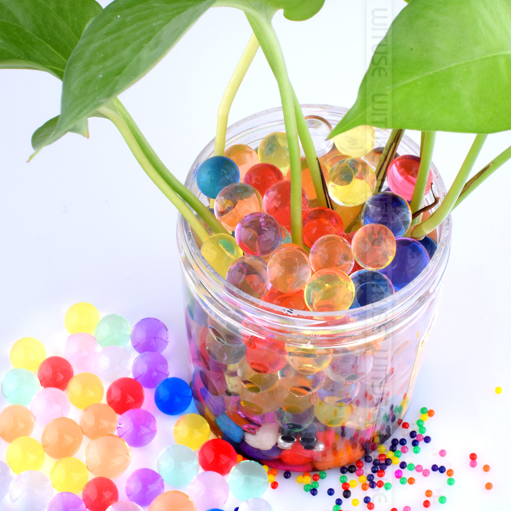 1000 PCS Of Lot 13-16mm Crystal Soil Hydrogel Gel Polymer Water Beads Decoration Maison Growing Water Balls Home Decor