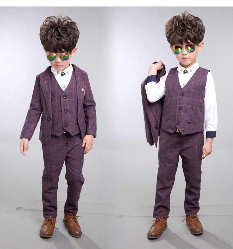 8da0876a2db9 2018 New Children Suit Baby Boys Suits Kids Blazer Boys Formal Suit For  Weddings Boys Clothes Set Jackets+Vest+Pants 3pcs 2 14Y-in Clothing Sets  from Mother ...