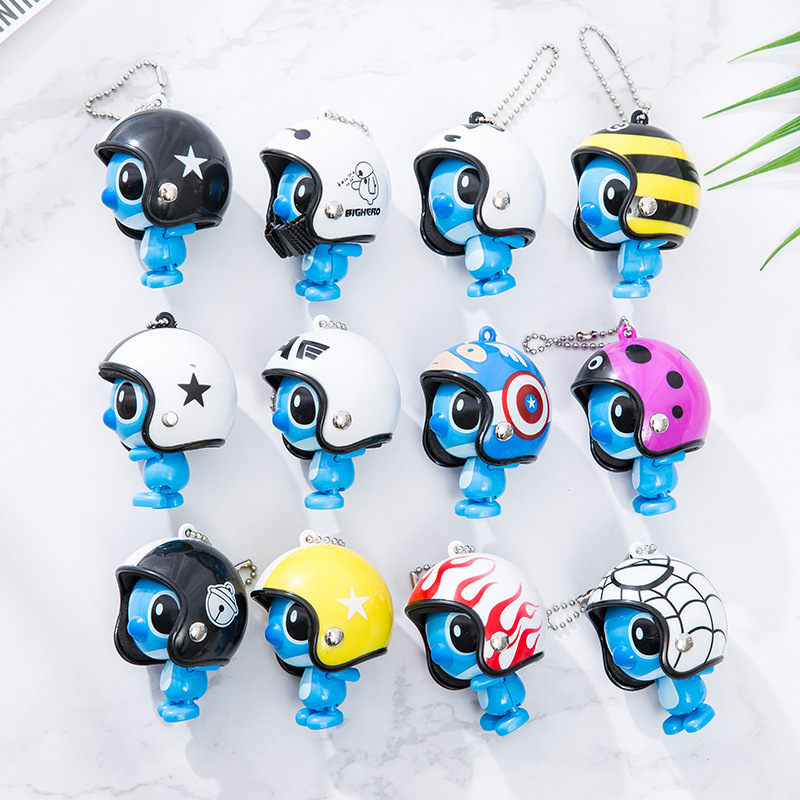 Trend Mark 5.5*4cm Lilo & Stitch Figures Pvc Cartoon Helmet Stitch Keychain Model Toy Collectible Toys For Chidlren Birthday Gifts Back To Search Resultstoys & Hobbies