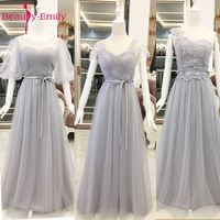 2017 Women S Special Ocassion Half Sleeves Long Evening Dresses Lace Chiffon Ruffles Tulle Formal Party