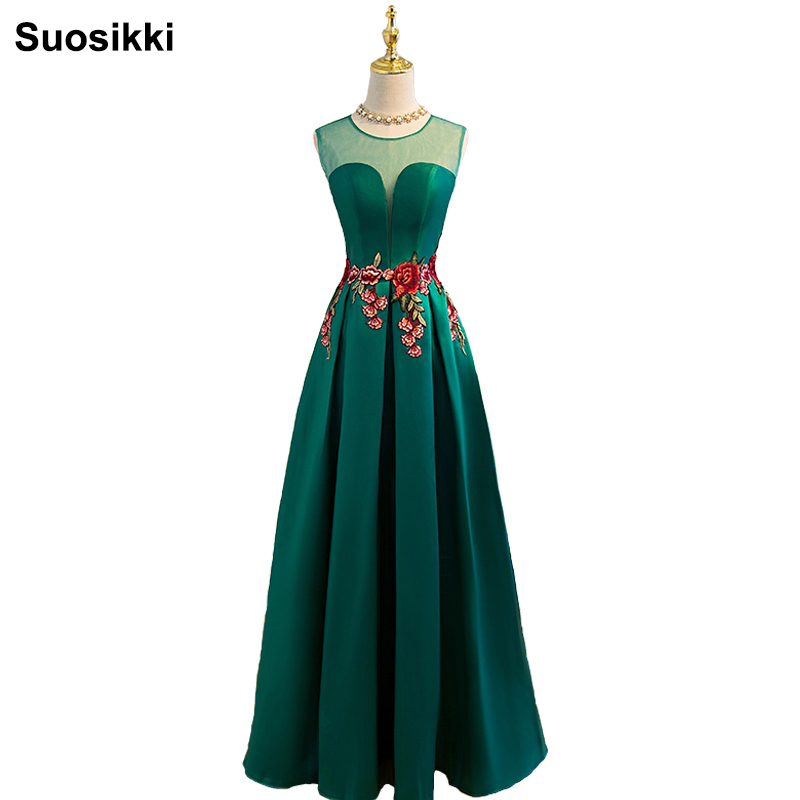 Suosikki new prom dress longos vestidos de festa a-line flor cap manga formal evening party dress frete grátis robe de soiree