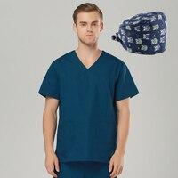Brands Emergency Room Clothing Cotton Medical Shirts Scrub Sets Female Male Scrubs Medical Uniform Medical Clothing