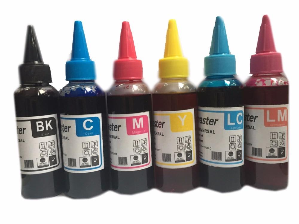 Einkshop 6x100 мл чернилами T0481 T0486 для Epson Stylus Photo R200 R220 R300 R300M R320 R340 RX500 RX600 RX620 RX640 принтер
