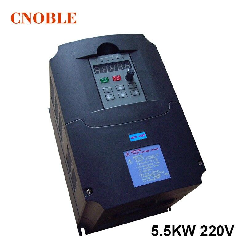 VFD 5.5kw convertisseur/convertisseur de fréquence 220 V entrée 380 v sortie 400 HZ machine de gravure uuivertor spécial pour moteur de broche