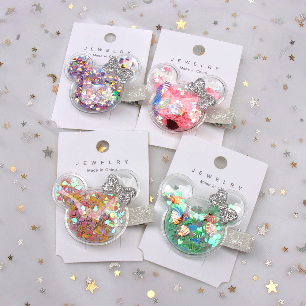 Xugar Hair Accessories Cute Hair Clip for Baby Transparent Waterproof Princess BB Clip Hairpin Girls Barrettes Hairgrip   Headwear
