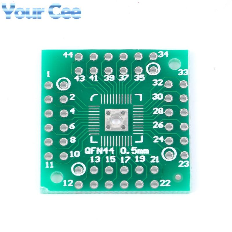10pcs HTQFP QFN48 To DIP48 QFN44 0.5mm QFP48 QFP44 PQFP LQFP Pinboard Adapter Plate Pitch PCB Electronic DIY