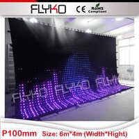 4x6 mt P10 made in china flexible led vorhang-in Bühnen-Lichteffekt aus Licht & Beleuchtung bei