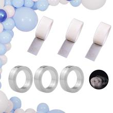 METABLE Decoration balloon garland kit 3 Rolls and Balloons Decorative Glue Points for Birthday Wedding Party