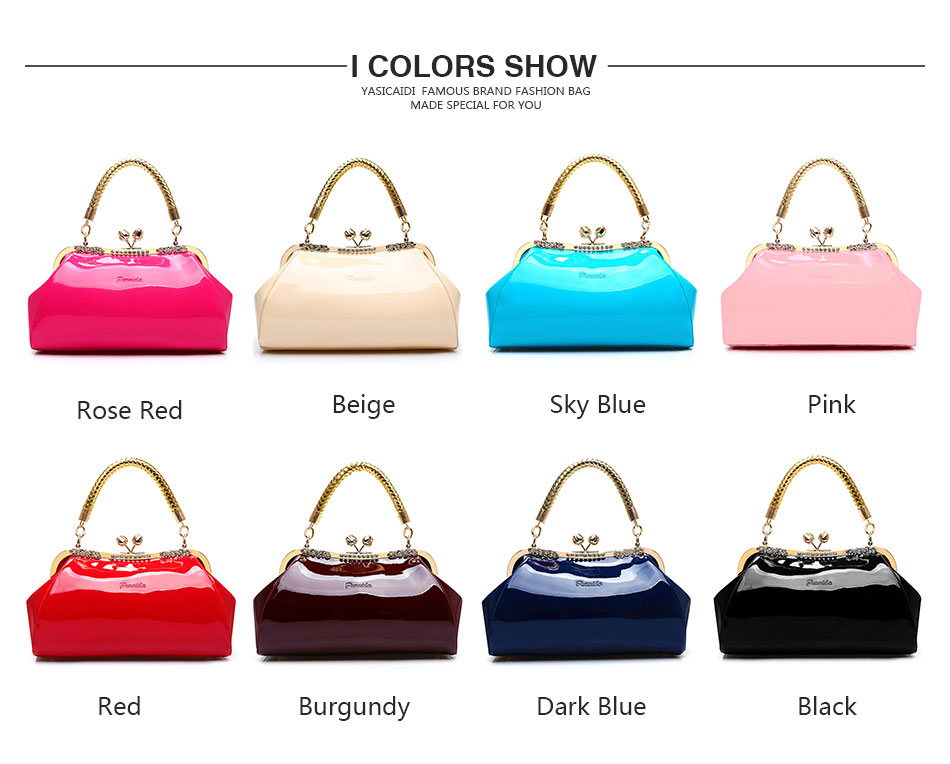 Fashion Large Capacity Patent Leather Women's Shoulder Bag