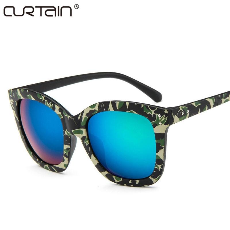 Señoras de moda diseño de marca retro gafas de sol femeninas retro - Accesorios para la ropa