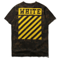 Off White T Camisa Camouflage Stripe Tees Tops T-Shirt Skate Off White Manga Curta