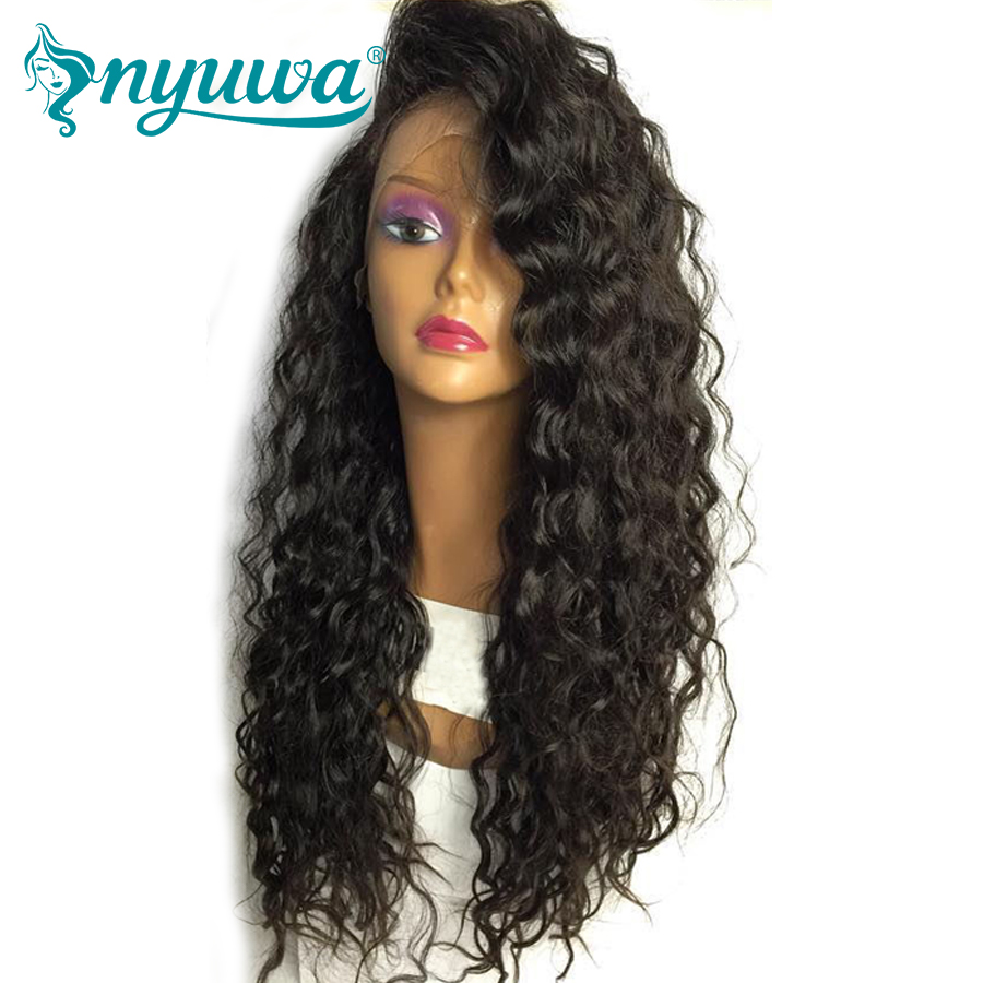Elva Hair Curly Lace Front Human Hair Wigs 130% Density Brazilian Remy Hair Wig With Baby Hair Pre Plucked Hairline 14″-24″inch