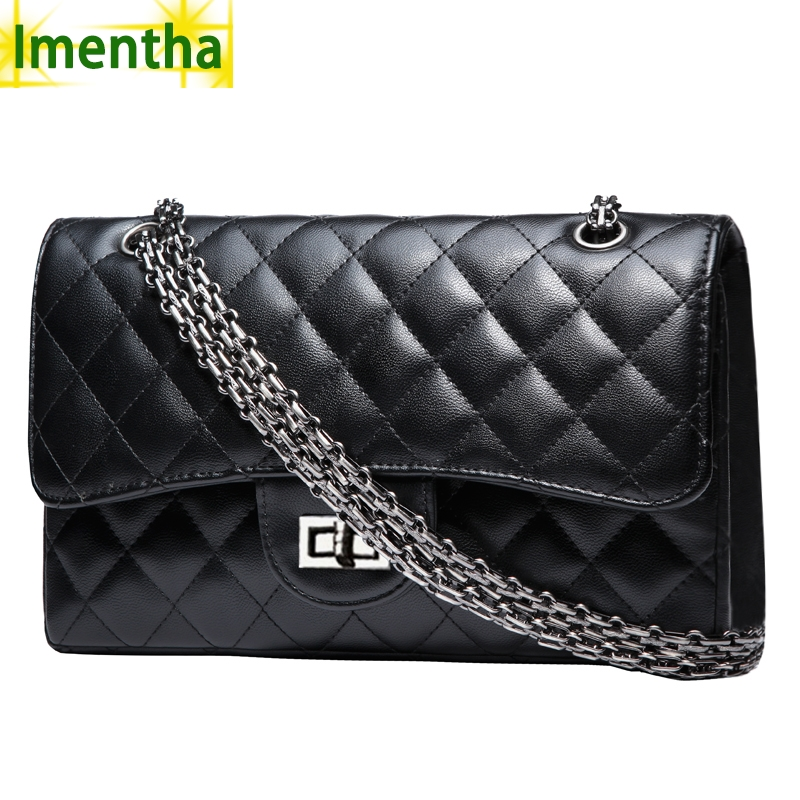 Black Quilted Handbag with Chain Strap Promotion-Shop for ...