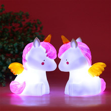 Beautiful Unicorn Lights Luminous Toys Children's Baby Room Decoration Evening Silicone Lights Sleep Lights Best Gift for Lovers