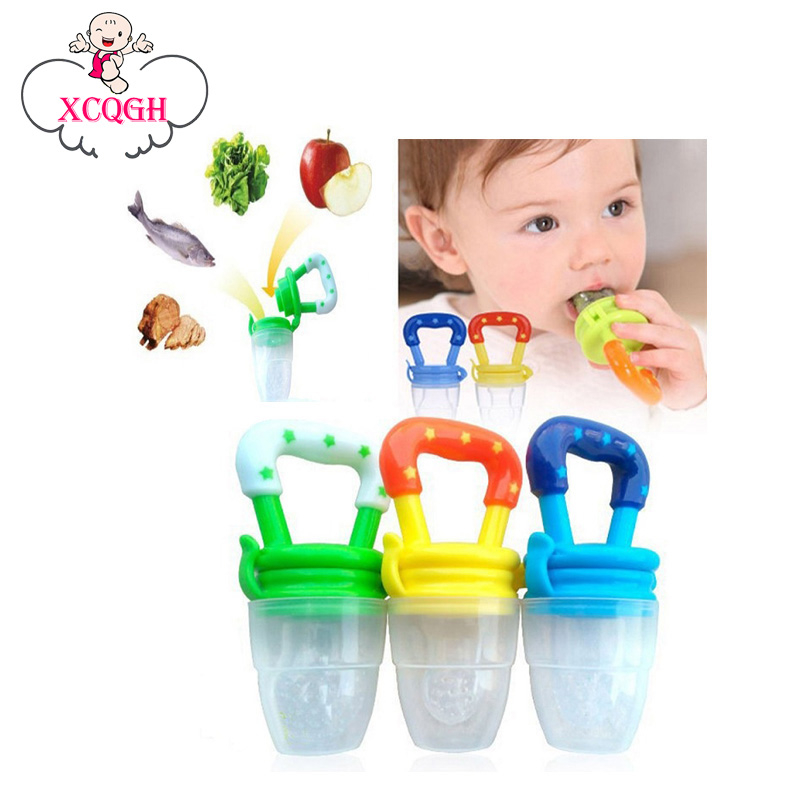 Funny Pacifiers Silicone Baby Pacifier Fresh Food Feeder Feeding Nipple Dummy Fruits Nibbler Soother Bottle Clip Chain bpa Free feeder needle cylinder type feeder feeds the baby to feed the water into his mouth to eat anti choking nipple type baby feeding