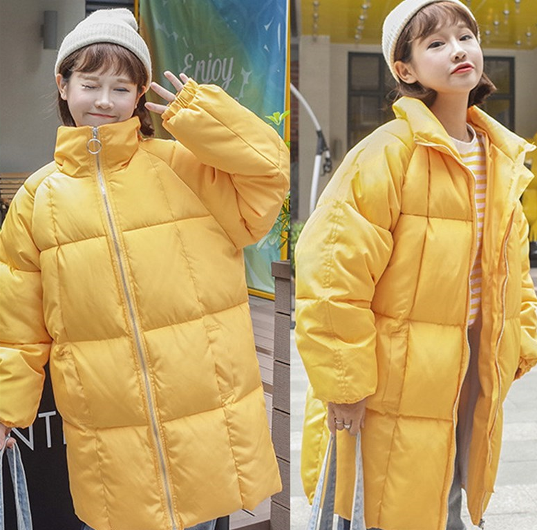 Korean winter new cotton girls long loose BF college female students wear cotton thickened wind bread Hooded women thick parkas