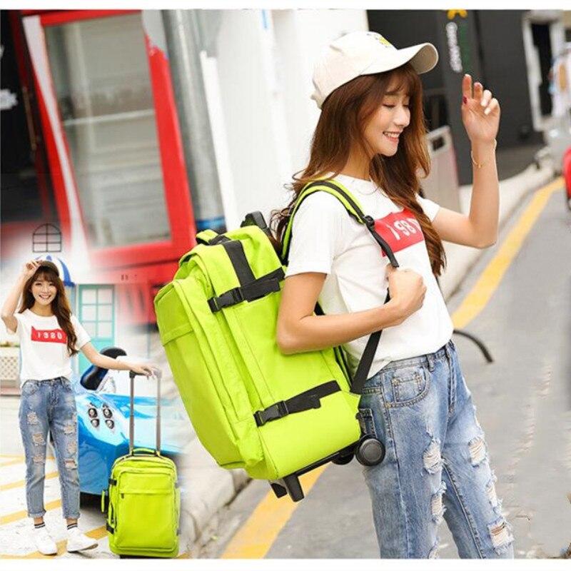 Sacs de voyage pour femmes, sac à dos Trolley, sac à bagages à roulettes, sac Trolley multifonction, bagage mode, valise à roulettes, coffre léger