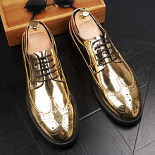 цены large size mens fashion wedding party dresses bright patent leather brogue shoes carving bullock platform oxfords shoe zapatos