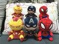 Бесплатная доставка EMS 48 шт. 20 СМ Marvel Плюшевые Куклы Капитан Америка Железный Человек Человек-Паук Плюшевые Игрушки Оптом