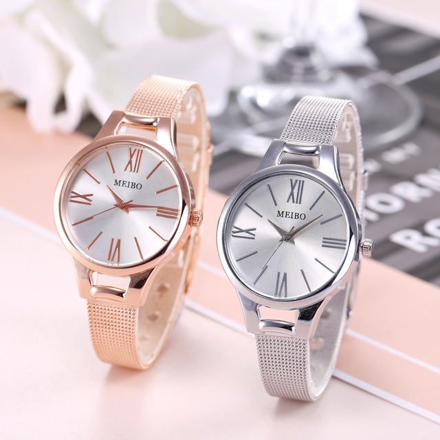 Top Brand Bracelet Watches Women Luxury Rose Gold Stainless Steel Wrist Watches Woman Quartz Watch Ladies Clock Gift Dropshiping