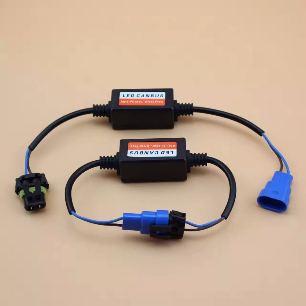 2pcs H7 H4 9007 9004 9005 HB3 9006 HB4 H8 H11 Car Led Headlight Fog Lamps Error Free Warning Canceler Capacitor Canbus Decoders цены