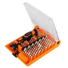 лучшая цена JAKEMY 52 in 1 Multi-functional Screwdriver Set Professional Repair Multi Tools Kit for Watch Phones PC Electronic Maintenance