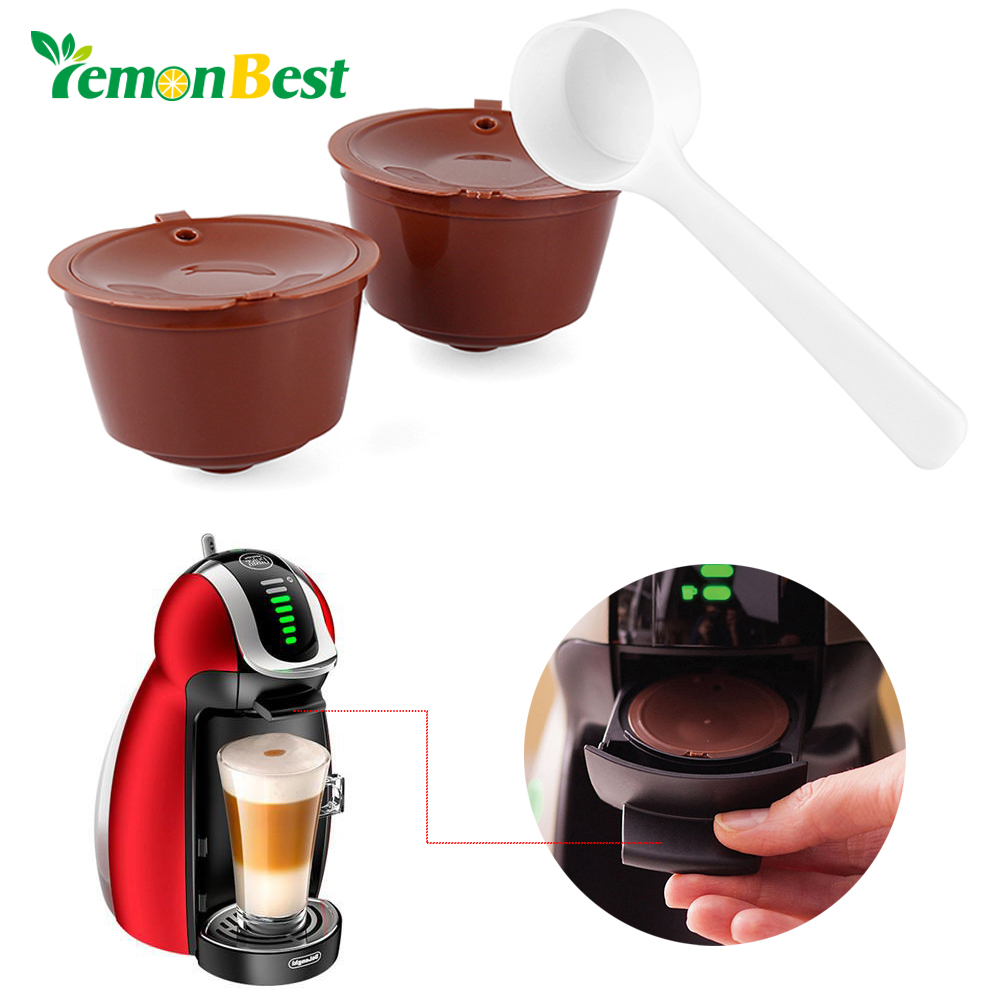lemonbest 2pcs refillable dolce gusto coffee capsule nescafe dolce gusto reusable capsule dolce