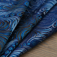 Peacock Style Metallic Jacquard Brocade Fabric 3D Jacquard Fabric Yarn Dyed Fabric For Womens Coat