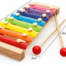 Радужный деревянный ксилофон для детские музыкальные игрушки креативный инструмент Orff игрушки деревянные инструменты игрушки для изучения рождественских подарков OF06