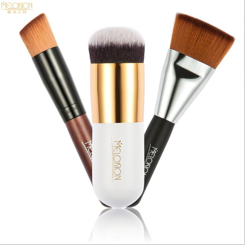 3pcs Cosmetic Rose Gold Powder Brush Professional Make Up Brush Large Cosmetics Makeup Brushes Foundation Make Up Tool Set 1pc professional makeup brush flawless blush powder pinceis brush rose gold metal large kabuki make up brush gub