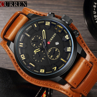 CURREN Men Military Sport Quartz Watch Mens Brand Luxury Leather Waterproof Male Wristwatch Relogio Masculino 8225