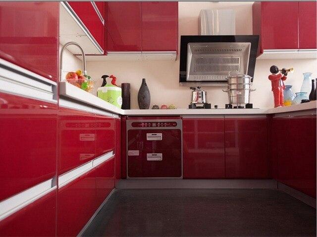 2017 ventas calientes alto brillo lacado gabinetes de cocina color ...
