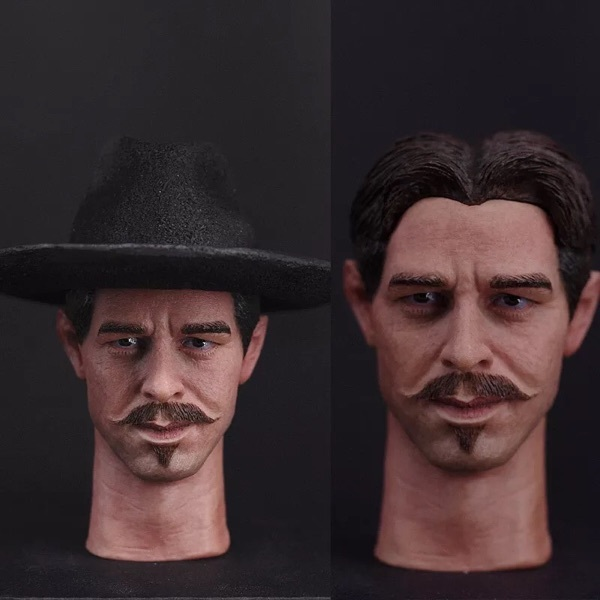 1 6 scale head sculpt val kilmer tombstone doc holliday for 12