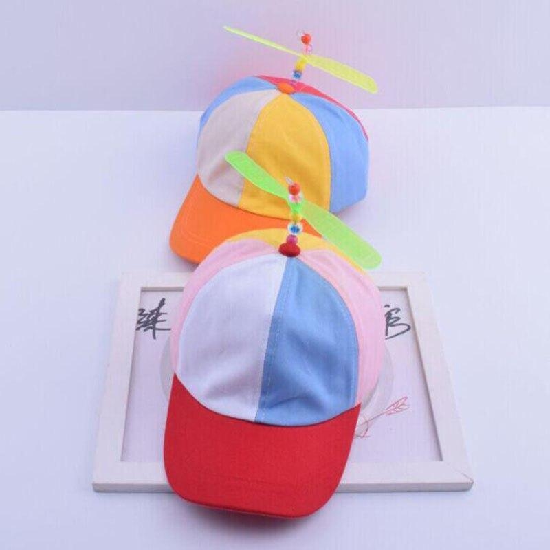 Модный ребенок пропеллер бейсболка Симпатичные Стрекоза шапка для мальчиков в стиле хип-хоп шляпа новинка для девочек шляпа от солнца Бесп...