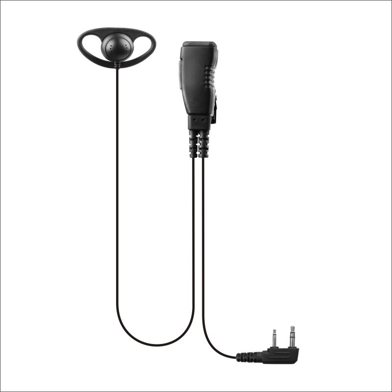 2 wire clear acoustic tube earphone with PTT / Mic for 2pin radio ...