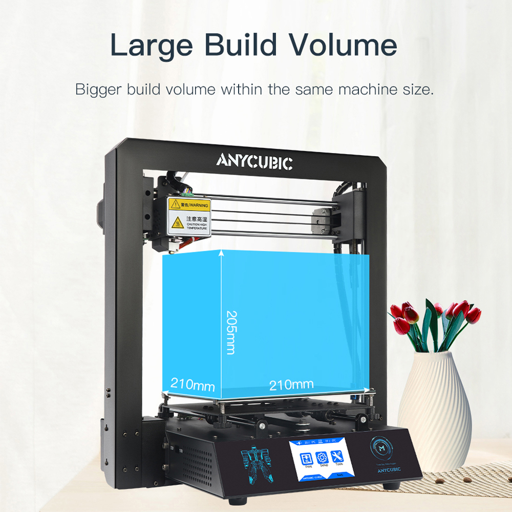 ANYCUBIC 3D Printer I3 Mega Plus Size Full Metal Frame Platform Desktop Industrial Grade High Precision 3d Drucker Kits Filament-in 3D Printers from Computer & Office    3