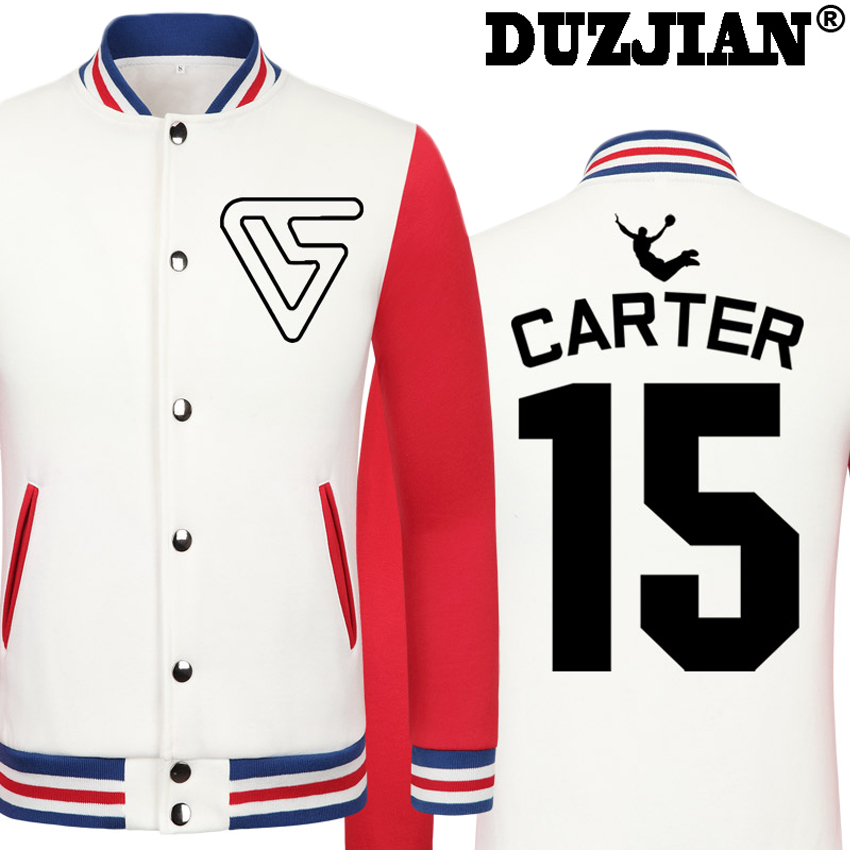DUZJIAN Spring new Raptor UFO Vince Carter casual jacket cheap men winter jackets male coat maillot paris 2016 jacket hip hop