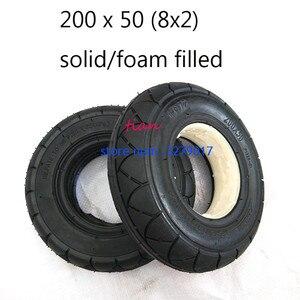 Image 1 - 2 ألوان 1 قطعة سكوتر متحرك الإطارات 200x50 (8x2) الصلبة/رغوة شغل 200x50 ل الحلاقة E100 E125 E200 سكوتر Vapo