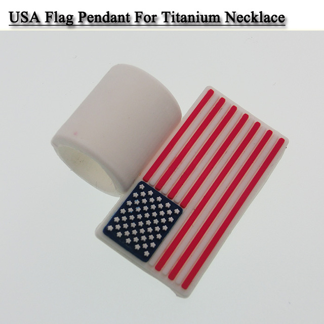USA Canada flag pendant for titanium baseball necklace Free DHL