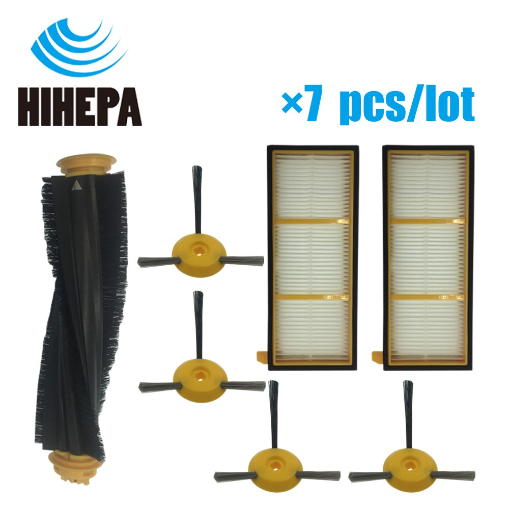 Smart 7 Pcs/lot Main Brushroll & Side Brush & Hepa Filter For Shark Ion Robot Rv700 Rv720 Rv750 Rv750c Rv755 Robot Part Fit # Rvfrk700 Careful Calculation And Strict Budgeting Home Appliance Parts