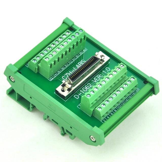 "Montaje En Carril DIN de $ number pines 0.05 ""Mini Cinta D/MDR Hembra Módulo de Interfaz SCSI."