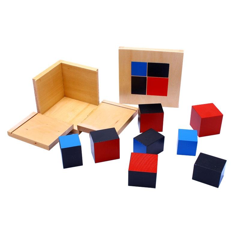 Montessori Wooden Toys Binomial Cube Montessori Math Materials Preschool Educational Learning Toys For Children MG1464H