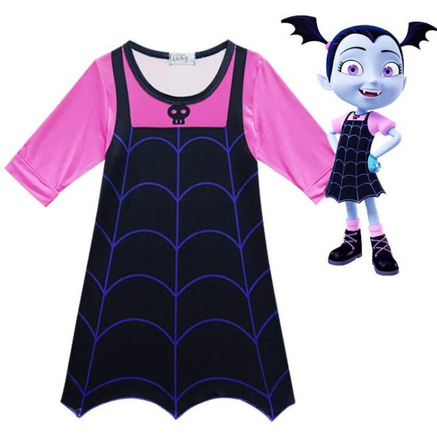 Vampirinas Cosplay Costumes Princess Party Anna Dress Christmas Clothing Summer Girls Dress Gift 3