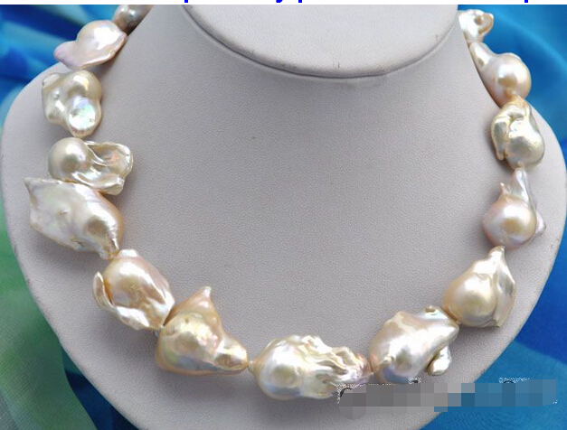 95bcd4236af FREE shipping     11mm round white freshwater pearls necklace 14KT GOLD 6.07