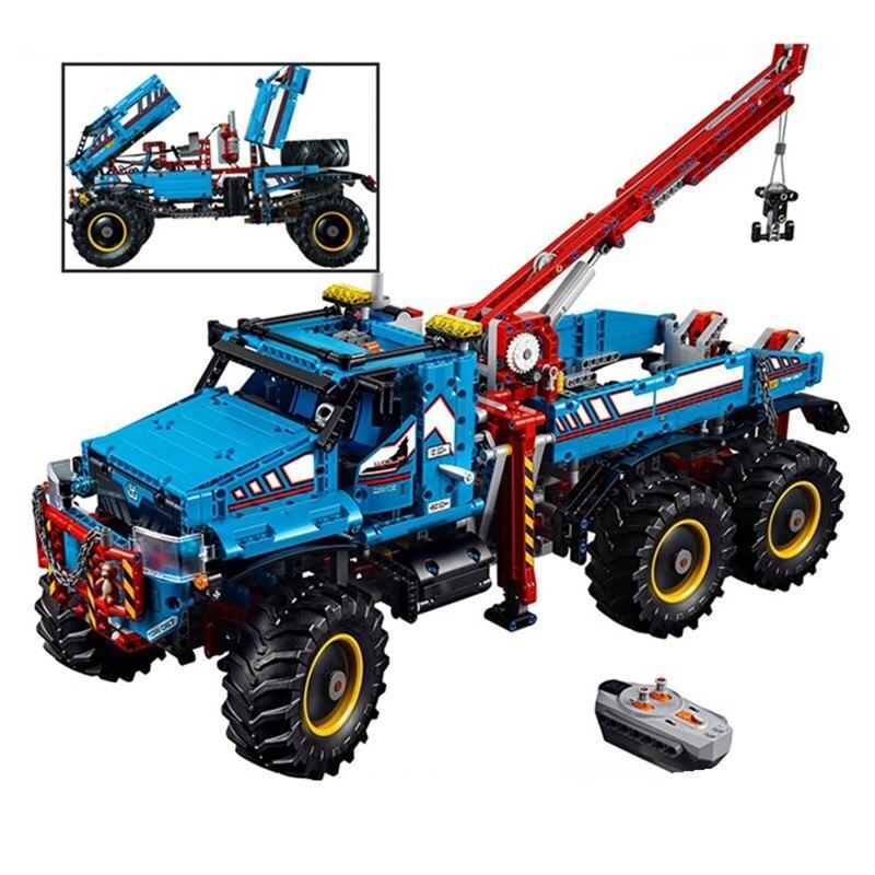 Legoing Technic Remoto Control 6x6 All Terrain Tow รถบรรทุกขนาดใหญ่ Chunky ยาง 2   In   1 รถบรรทุกบล็อกของเล่นเด็ก LEGOings ชุด-ใน บล็อก จาก ของเล่นและงานอดิเรก บน   2