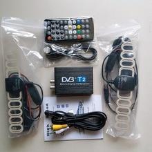 Coche DVB T2 120 km/h Doble Antena H.264 MPEG4 Coche DVB-T2 TV Digital Móvil Caja Externa USB Receptor de TV Gratis gratis