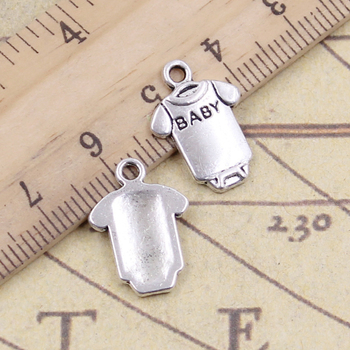 20pcs Charms Baby Onesie Coverall Cloth 17x12mm Tibetan Bronze Silver Color Pendants Antique Jewelry Making DIY Handmade Craft 50g 100g letters mixed charms pendants vintage antique bronze silver bracelets necklaces craft metal alloy diy jewelry making
